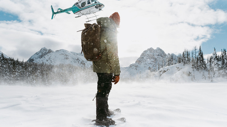 Heli-snowshoe