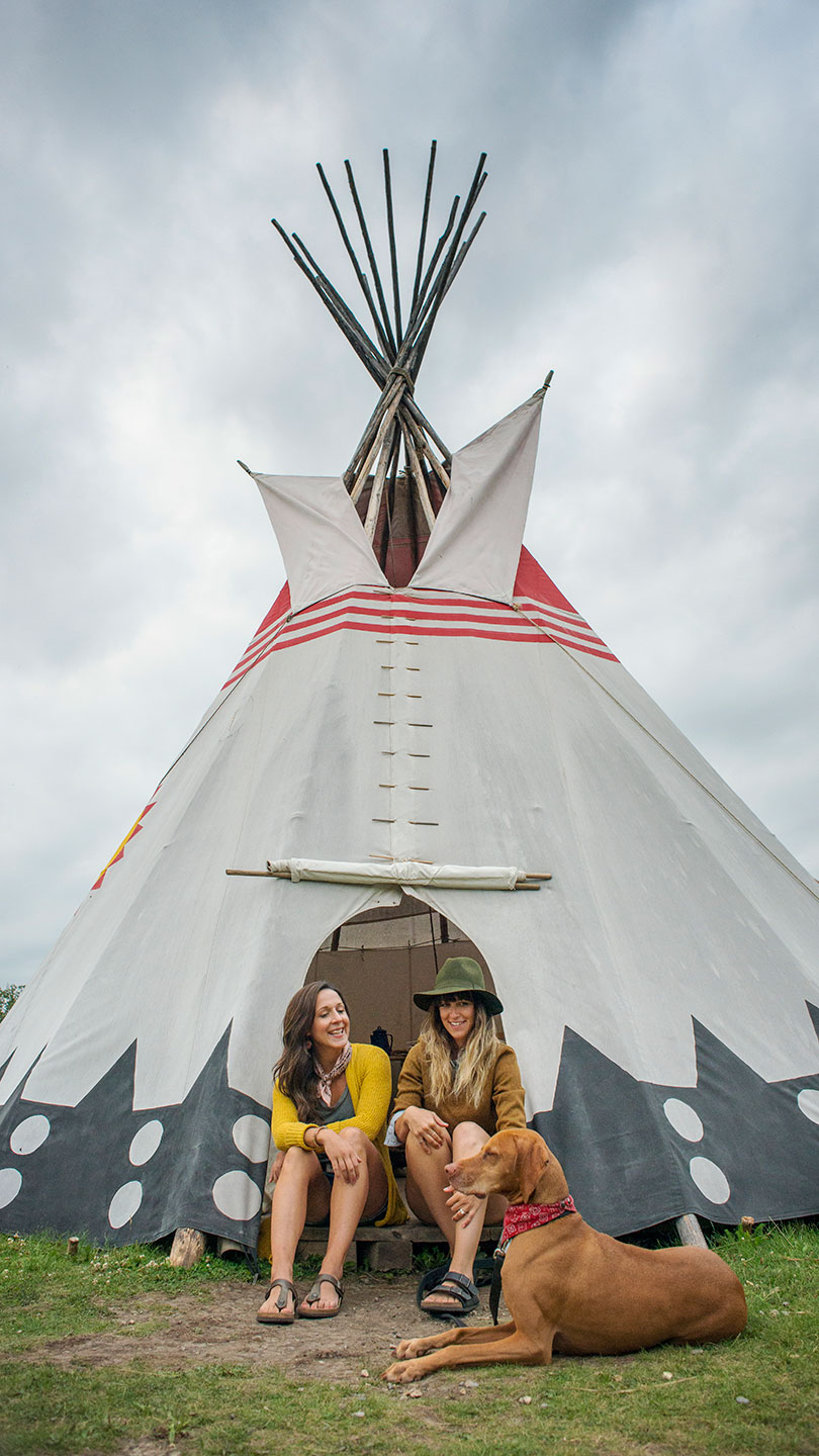 Rocky Mountain House National Historic Site - Tipi