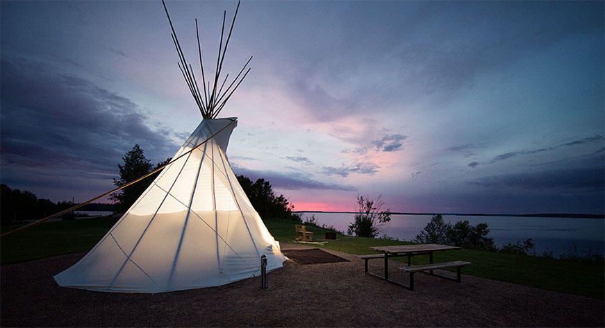 Tipi on the Beach