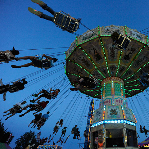 ammusment ride during K-Days festival