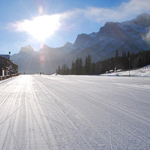 Pista de esquí de fondo en Canmore