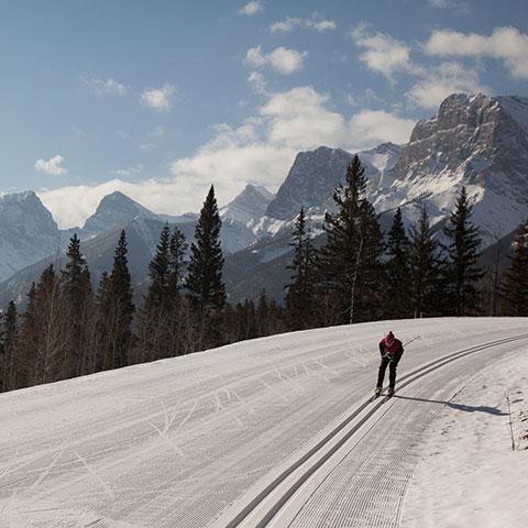 Esquí de fondo en Canmore Nordic Centre, Canadian Rockies