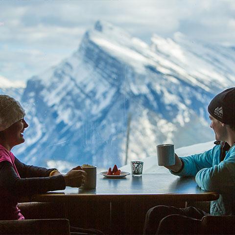 Cena en Norquay Banff National Park