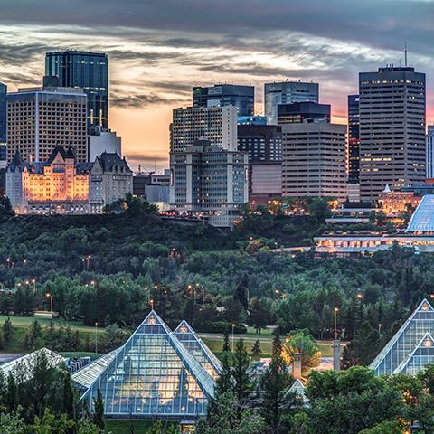 Horizonte del centro de Edmonton