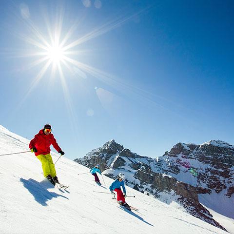 밴프 선샤인 빌리지 가족 활강 스키