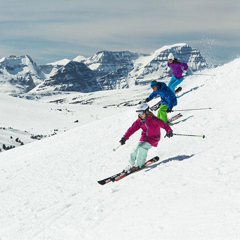 Skiën met het gezin, Sunshine Village, Banff