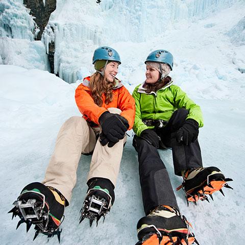 Escalada en hielo en Johnston Canyon, Banff National Park