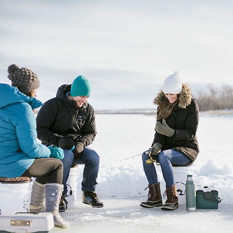 IJsvissen, Bear Lake, Grande Prairie