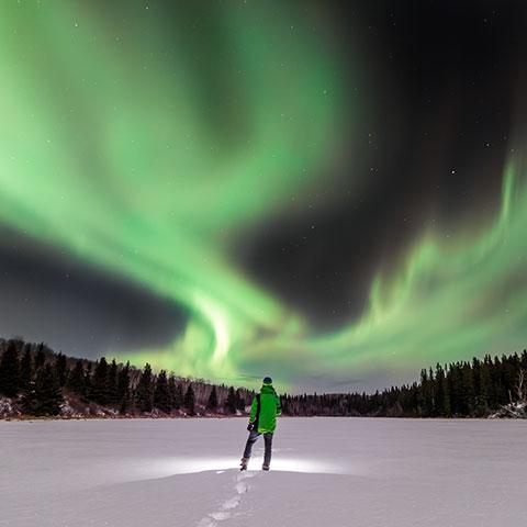 Aurora boreal en Cold Lake
