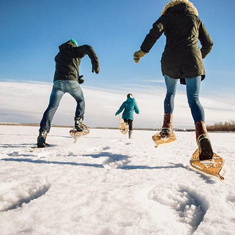 Snowshoeing Bear Lake Grande Prairie