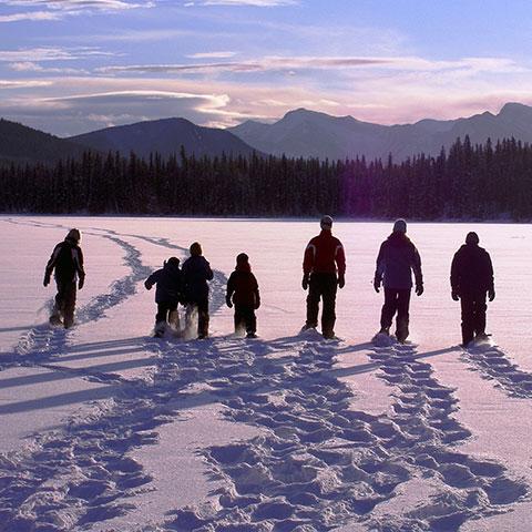 Snowshoeing Northern Alberta