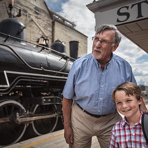 Viaje en tren cerca de Stettler, en el centro de Alberta