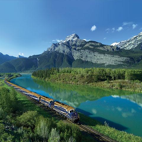 Treinreis met de Rocky Mountaineer, Exshaw