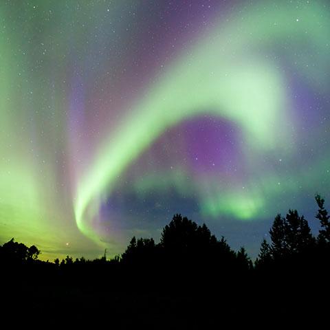 Avistamiento de aurora boreal