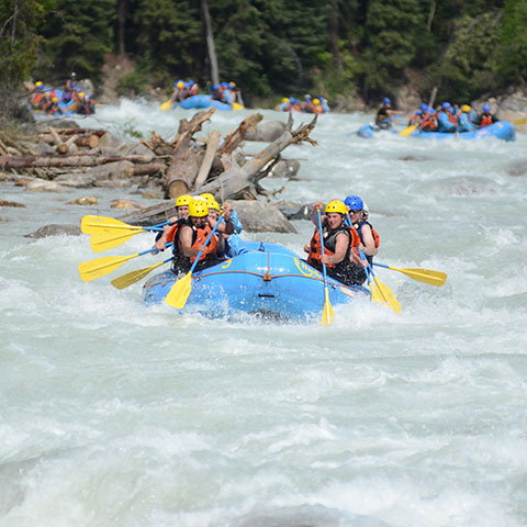 Whitewater rafting Banff