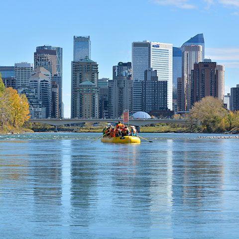 Floating Bow River Calgary