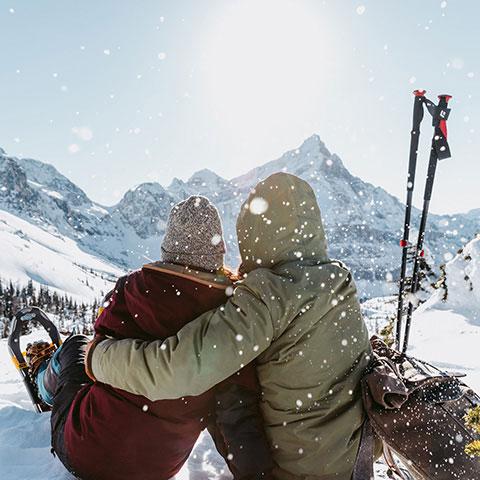 Snowshoeing Banff Alberta