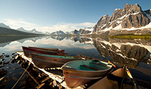 Boating Amethyst Lake Jasper National Park