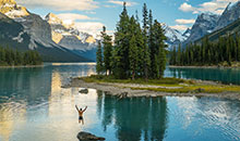 Spirit Island en Maligne Lake, Jasper National Park