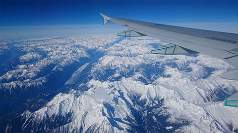 Aerial view Rocky Mountains