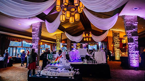 Decorated event room