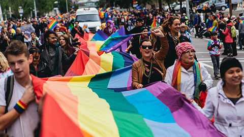 Bandera del desfile del orgullo