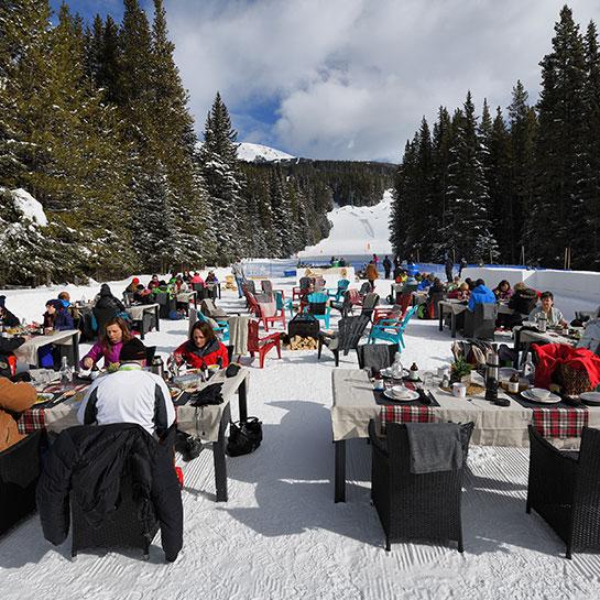 SHiFT dining on Lake Louise ski hill