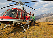 Heli-Tour in Canmore Alberta