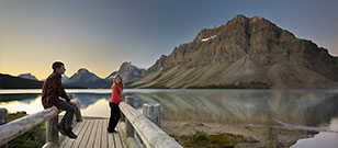 Bow Lake in the Canadian Rockies