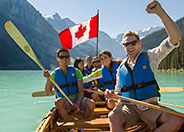 Canoing on Lake Louise