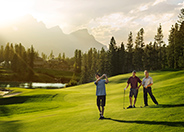 Golfing at Silvertip Golf Resort, Canmore Alberta