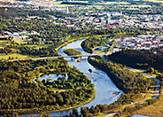 Arial view of Red Deer Alberta